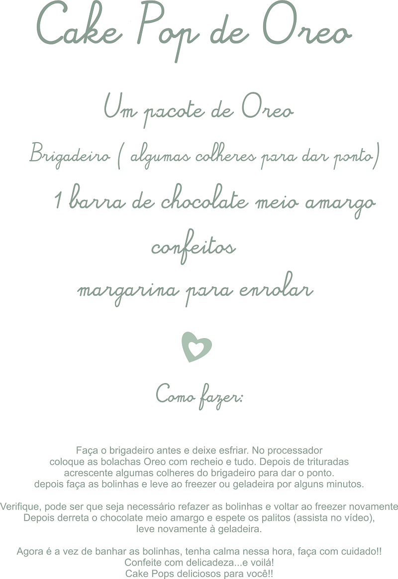 receita de cake pop OREO