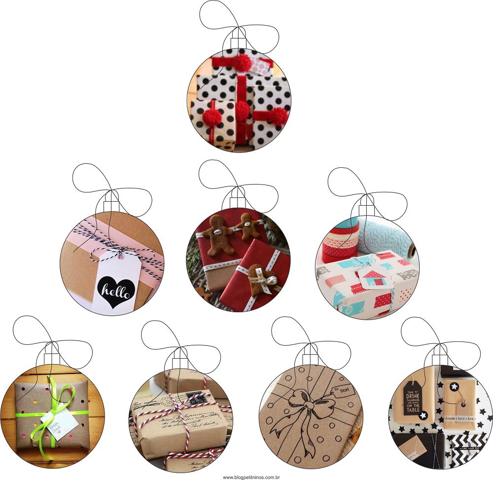ideias para embrulhar presentes de natal
