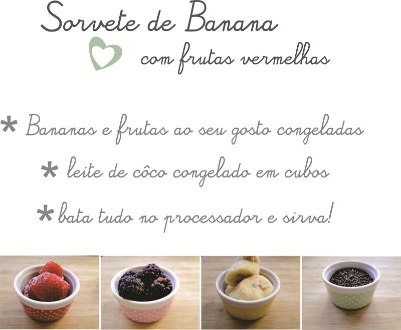 receita sorvete de banana congelada