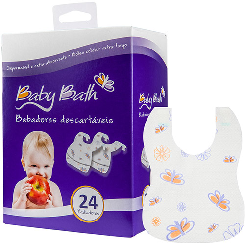 babador descartável baby bath